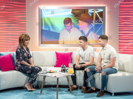 Stock Image of Lorraine Kelly, Leon Mallett and Alex Mallet