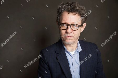 Jeff Preiss poses for a portrait at Quaker Good Energy Lodge with GenArt and the Collective, during the Sundance Film Festival, on in Park City, Utah