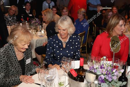 Stock Photo of (L-R) Sue MacGregor, Camilla Duchess of Cornwall and Jane Luca