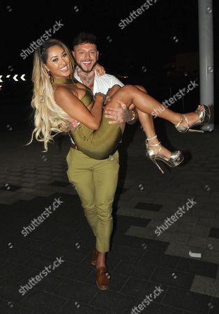 Zahida Allen and Sean Pratt leaving Maisons Nightclub