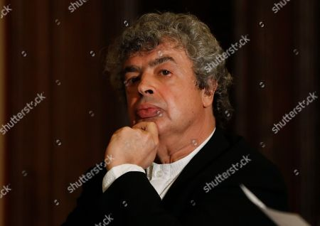 Semyon Bychkov meets with media after being appointed The Czech Philharmonic new chief conductor and music director at the Rudolfinum concert hall in Prague, Czech Republic