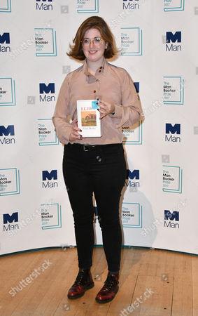 Stock Image of Fiona Mozley with her book 'Elmet'