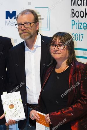 George Saunders, author of 'Lincoln in the Bardo', and Ali Smith, author of 'Autumn', both shortlisted for the 2017 Man Booker Prize for Fiction.