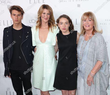 Ellery Harper, Laura Dern, Jaya Harper and Diane Ladd