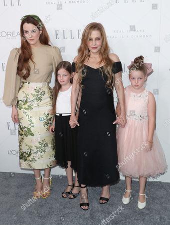 Lisa Marie Presley with her children Riley Keough, Finley Aaron Love Lockwood and Harper Vivienne Ann Lockwood