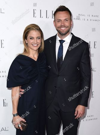 Sarah Williams, Joel McHale. Sarah Williams, left, and Joel McHale arrive at the 24th annual ELLE Women in Hollywood Awards at the Four Seasons Hotel Beverly Hills, in Los Angeles