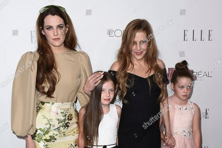 Lisa Marie Presley, Riley Keough, Finley Lockwood, Harper Lockwood. Lisa Marie Presley, second right, her daughter Riley Keough, left, and her twin daughters Finley Lockwood and Harper Lockwood, arrive at the 24th annual ELLE Women in Hollywood Awards at the Four Seasons Hotel Beverly Hills, in Los Angeles