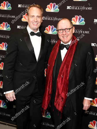 Robert Greenblatt, James Spader. Robert Greenblatt, left, and James Spader, right, pose in the press room at the Broadcasting & Cable Hall of Fame Awards 27th Anniversary Gala at the Grand Hyatt New York, in New York