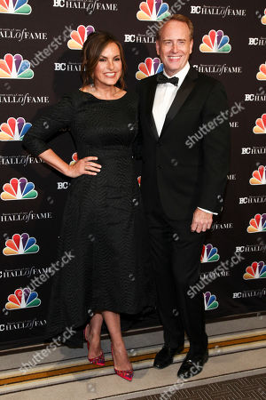 Mariska Hargitay, Robert Greenblatt. Mariska Hargitay, left, and Robert Greenblatt, right, pose in the press room at the Broadcasting & Cable Hall of Fame Awards 27th Anniversary Gala at the Grand Hyatt New York, in New York