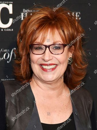 Joy Behar poses in the press room at the Broadcasting & Cable Hall of Fame Awards 27th Anniversary Gala at the Grand Hyatt New York, in New York