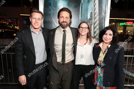 David Ellison, Producer, Gerard Butler, Dana Goldberg, Producer, Sue Kroll, President, Worldwide Marketing and Distribution, Warner Bros. Pictures,