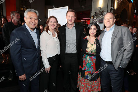 Kevin Tsujihara, Chairman and Chief Executive Officer of Warner Bros., Dana Goldberg, Producer, David Ellison, Producer, Sue Kroll, President, Worldwide Marketing and Distribution, Warner Bros. Pictures, Toby Emmerich, President and Chief Content Officer, Warner Bros. Pictures Group,