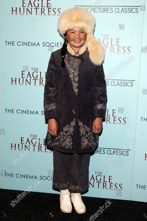 "Aisholpan attends a special screening of ""The Eagle Huntress"" at the Landmark Sunshine Cinema, in New York"