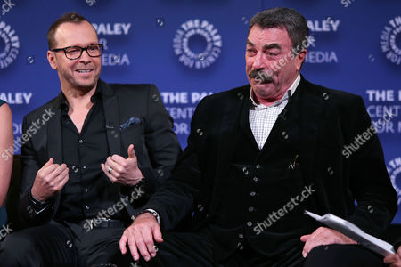Donnie Wahlberg and Tom Selleck