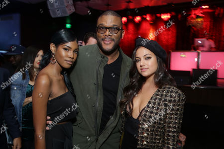 Diamond White, Tyler Perry, Writer/Director/Producer, and Inanna Sarkis