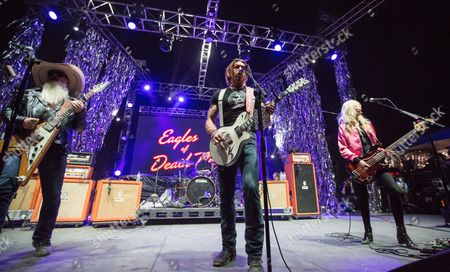 Dave Catching, Jesse Hughes, Jorma Vic Jennie Vee of Eagles of Death Metal