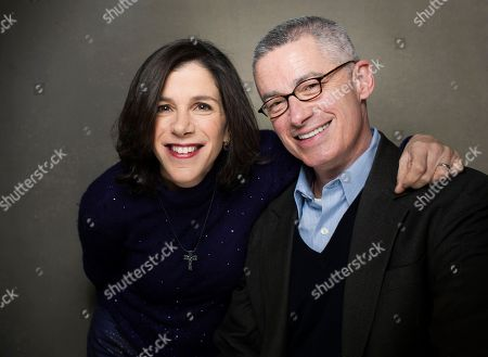 "Director Alexandra Pelosi, left, and filmmaker Jim McGreevey from the film ""Fall to Grace"" pose for a portrait during the 2013 Sundance Film Festival on in Park City, Utah"