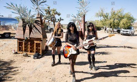 Ellie English, Sade Sanchez, Irita Pai of LA Witch