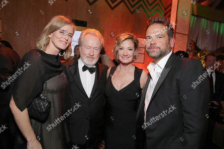 Emma Watts, President of Production at Twentieth Century Fox, Ridley Scott, Elizabeth Gabler, President of Fox 2000, and Lachlan Murdoch, Executive Chairman of 21st Century Fox, seen at Twentieth Century Fox Golden Globes Party, in Beverly Hills, CA