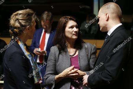 Marija Pejcinovic Buric, Ann Linde and Samuli Virtanen