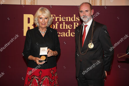 Camilla Duchess of Cornwall and President of the RA Christopher le Brun