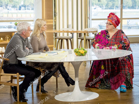Phillip Schofield and Holly Willoughby with Camila Batmanghelidjh