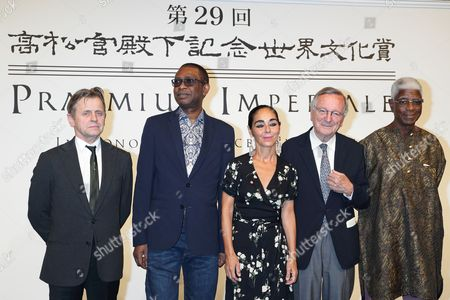 Russian-American ballet dancer Mikhail Baryshnikov, Senegalese singer, songwriter and composer Youssou N'dour, Iranian-born visual artist Shirin Neshat, Spanish architect Rafael Moneo and Ghanaian sculptor El Anatsui
