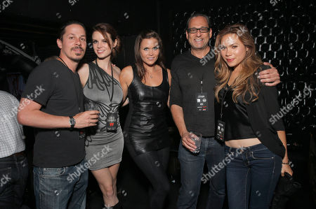 Stock Picture of IMAGE DISTRIBUTED FOR CON OF DARKNESS - Roman Bruno, Catherine Annette, Ashley Noel, CEO Entertainment One Television John Morayniss and Jen Roa attend the Con of Darkness, on Friday, July 19th, 2013 in San Diego, California