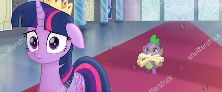 Twilight Sparkle (Tara Strong) and Spike (Cathy Weseluck)