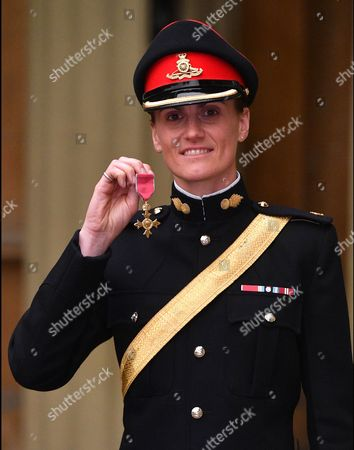 Major Heather Stanning with her OBE for services to Rowing