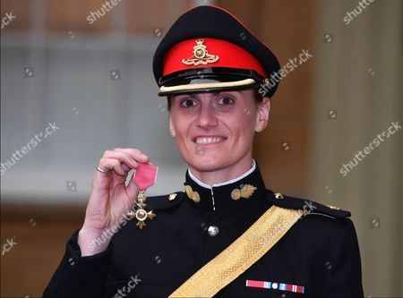 Stock Photo of Major Heather Stanning with her OBE for services to Rowing
