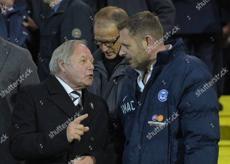 Peterborough United Chairman Darragh MacAnthony and Director of Football Barry Fry