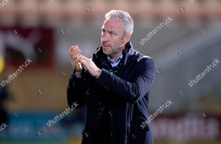 Shaun Derry Manager Of Cambridge United during the Sky Bet League Two match between Cambridge United and Yeovil Town at the The Cambs Glass Stadium on October 17th 2017 in Cambridge, Cambridgeshire England. (Photo by Gareth Davies/PPAUK)