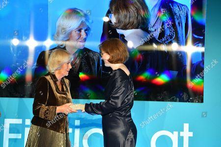 Stock Photo of Camilla Duchess of Cornwall and Fiona Mozley