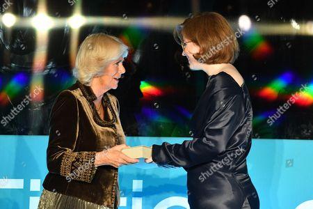 Camilla Duchess of Cornwall and Fiona Mozley
