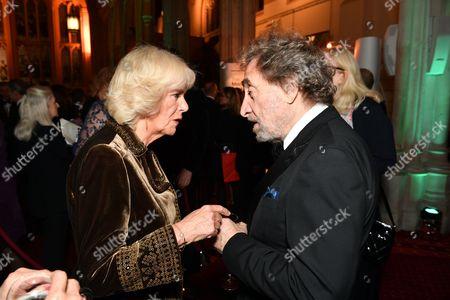 Camilla Duchess of Cornwall and Howard Jacobson