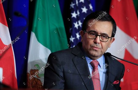 Mexico's Secretary of Economy Ildefonso Guajardo Villarreal, speaks during the conclusion of the fourth round of negotiations for a new North American Free Trade Agreement (NAFTA) in Washington