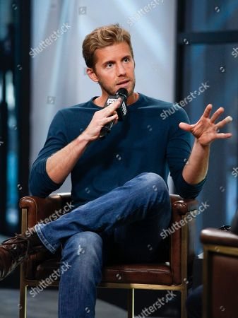 "Matt Barr participates in the BUILD Speaker Series to discuss the TV show ""Valor"" at AOL Studios, in New York"