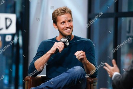 """Stock Picture of Matt Barr participates in the BUILD Speaker Series to discuss the TV show """"Valor"""" at AOL Studios, in New York"""