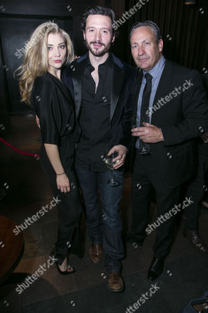 Natalie Dormer (Vanda Jordan), David Oakes (Thomas Novachek) and Nigel Everett (Producer)