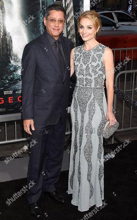 Dean Devlin and Lisa Brenner