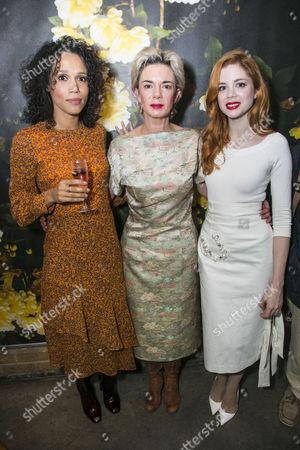 Vinette Robinson (Anna), Victoria Hamilton (Audrey Walters) and Charlotte Hope (Zara)
