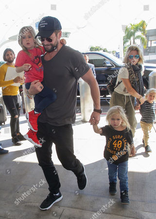 Chris Hemsworth, India Rose Hemsworth, Tristan Hemsworth, Sasha Hemsworth and Elsa Pataky