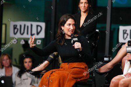 Randi Zuckerberg participates in the BUILD Speaker Series Be Fierce tech panel at AOL Studios, in New York