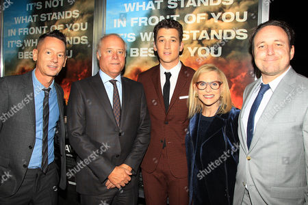 Stock Photo of Jim Nelson,, Bob Sauerberg, Miles Teller, Dawn Ostroff, Jeremy Steckler