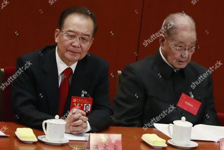 Stock Photo of Wen Jiabao and Song Ping