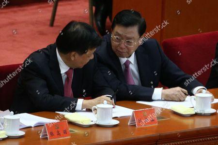 Zhang Dejiang and Liu Yunshan