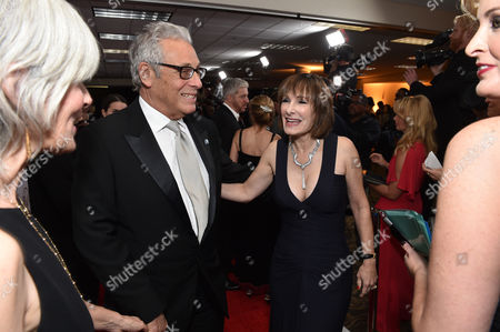 Hawk Koch, President Emeritus, PGA and Gale Anne Hurd arrive at the 26th Annual Producers Guild Awards at the Hyatt Regency Century Plaza, in Los Angeles