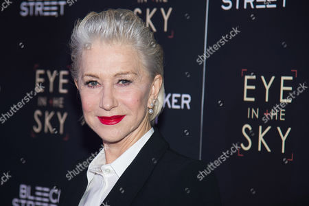 """Helen Mirren attends the premiere of """"Eye In The Sky"""" at AMC Loews Lincoln Square. The Oscar-winning actress has agreed to host the award ceremony of Israel's Genesis Prize in Jerusalem, organizers said Wednesday, April 6, 2016 . The $1 million prize is being awarded to Israeli-American violinist Itzhak Perlman for his accomplishments as a musician, teacher and advocate for the disabled"""