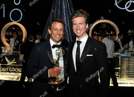 LOS ANGELES, CA - SEPTEMBER 10: (L-R) Seth Meyers and Josh Meyers attends the 2011 Academy of Television Arts & Sciences Primetime Creative Arts Emmy Awards Governors Ball at the Los Angeles Convention Center on in Los Angeles, California